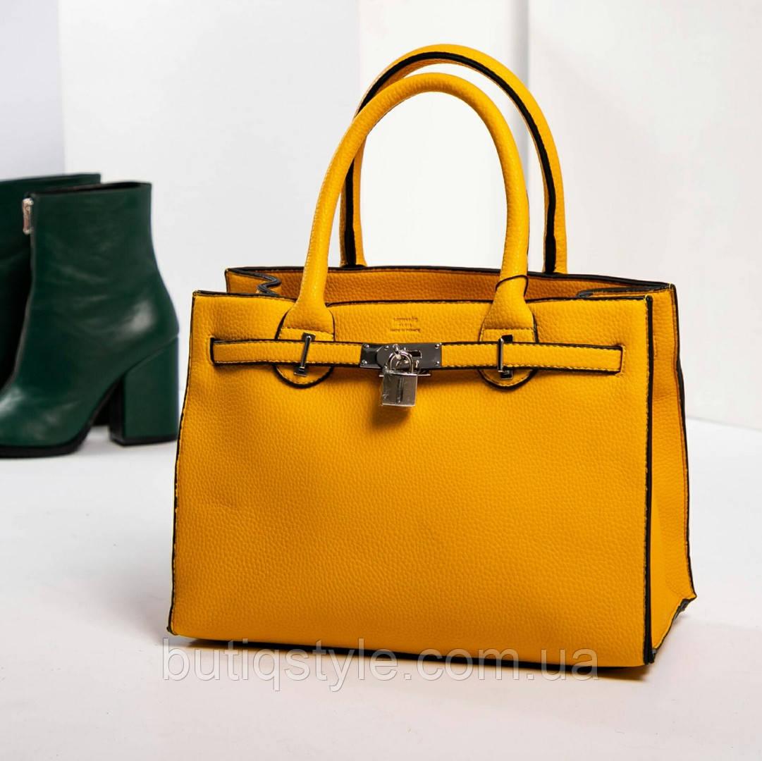Женская желтая сумка  в стиле H/rm/s , Турция
