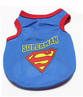 Майка Superman сетка синяя