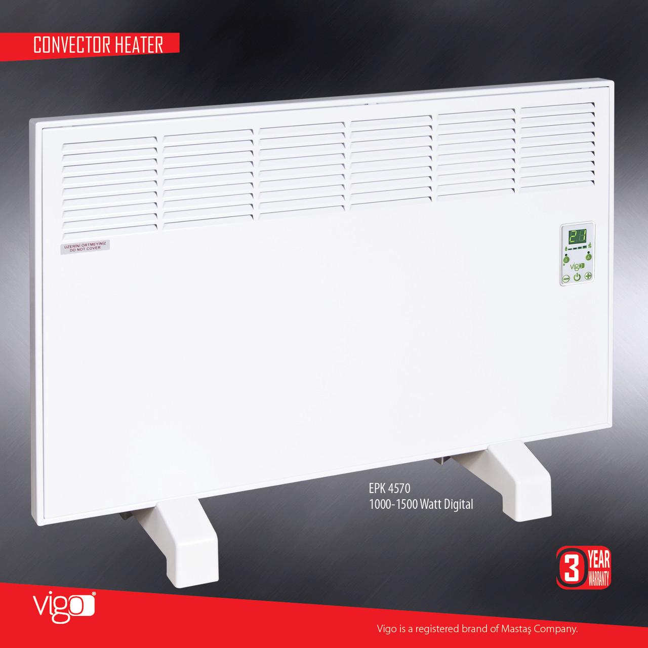 Электрический конвектор обогреватель MASTAS Vigo E15 - 1500W
