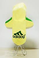 Толстовка с подчесом Adidog желтая