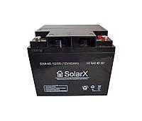 Акумуляторна батарея SolarX SXA 40-12 (12V 40Ah)