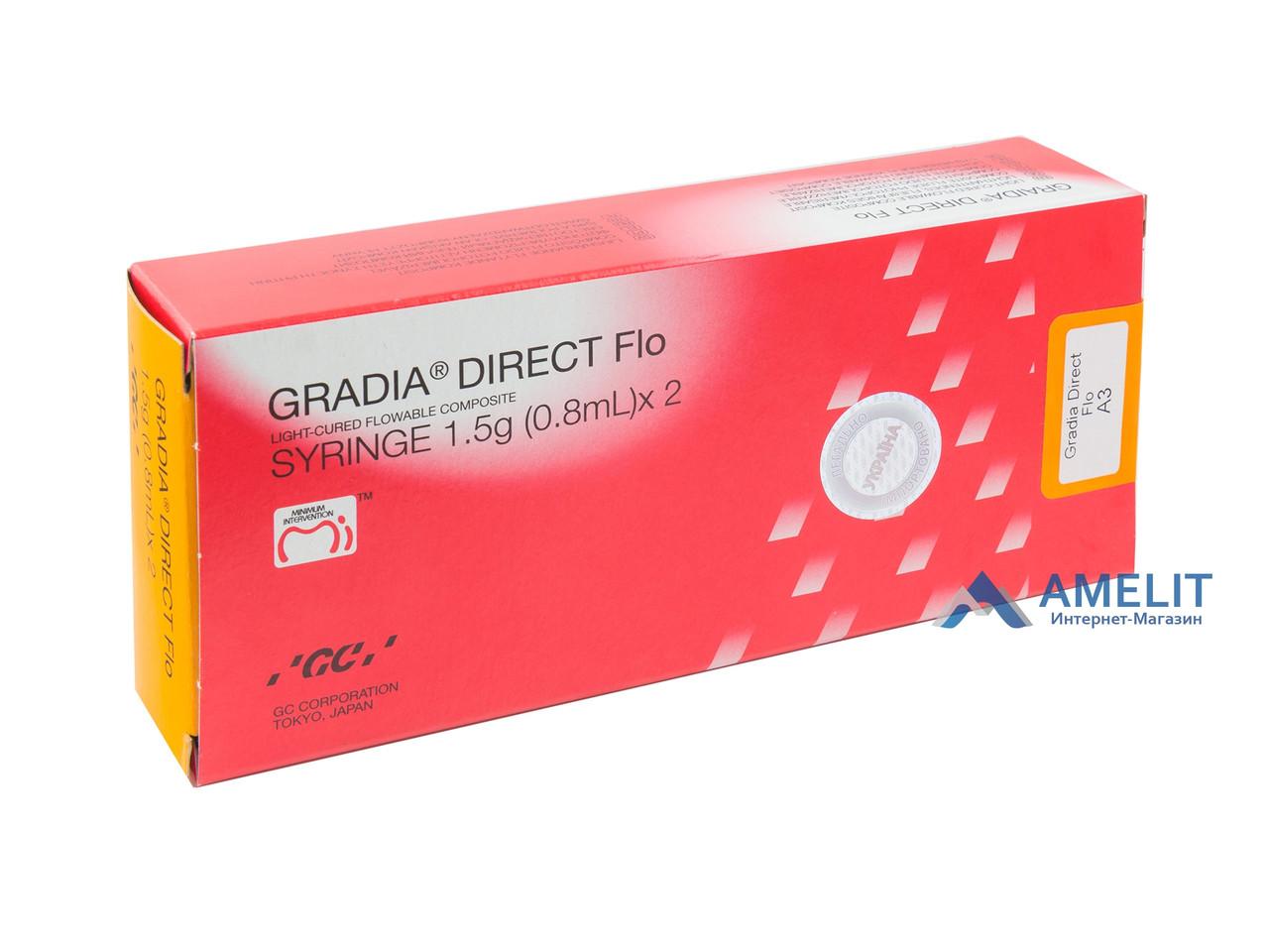 Градиа Дайрект Фло (Gradia Direct Flo, GC), шприц 1,5г