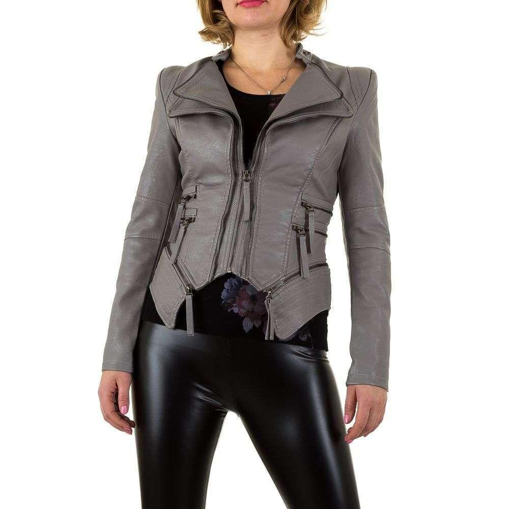 Женская куртка декорированная молниями Noemi Kent (Франция), Серый