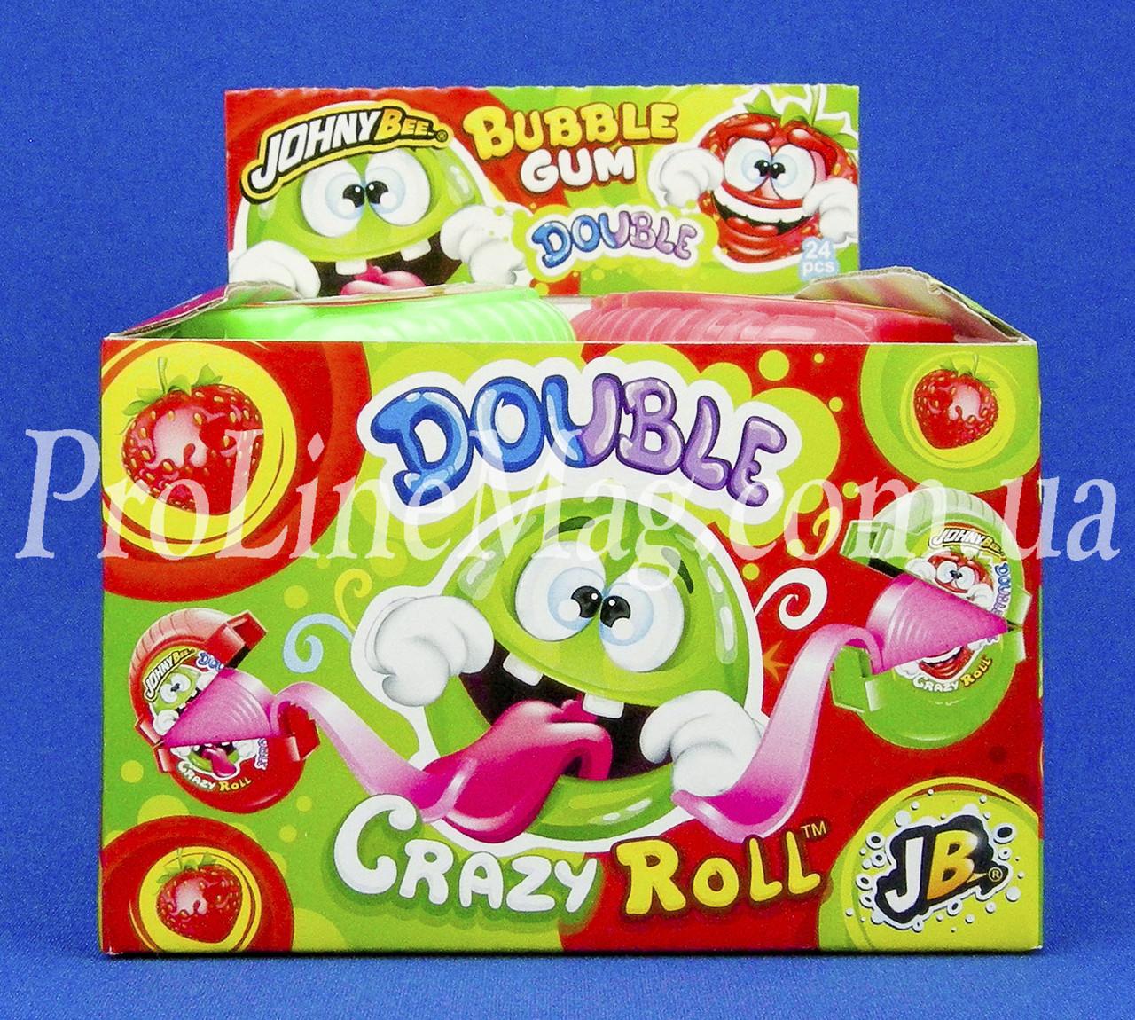 Жевательная резинка JOHNY BEE® Double Crazy Roll рулетка фруктовая