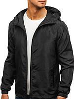 Ветровка курточка мужская весенняя/осенняя, цвет черный