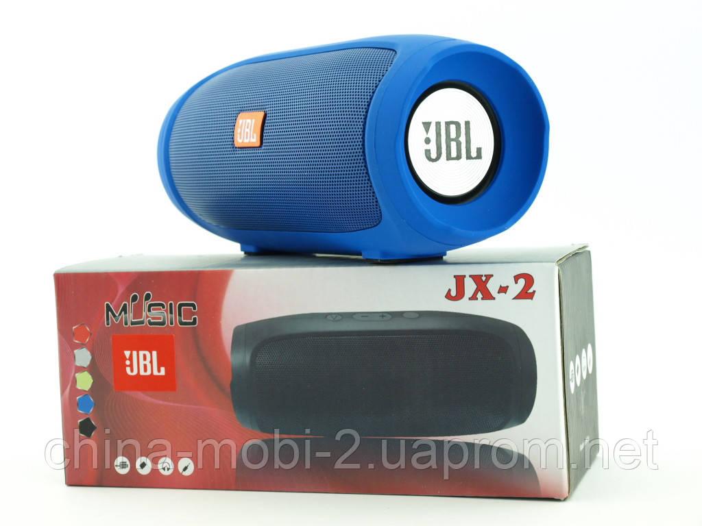 JBL Charge 4 mini jx-2 3W копия, Bluetooth колонка с FM MP3, синяя