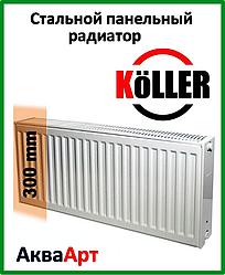 Стальной радиатор Koller 22k 300*400 боковое подключение