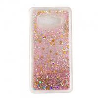 Чехол Glitter для Samsung G530 / G531 / Galaxy Grand Prime бампер Жидкий блеск Звезды Розовый