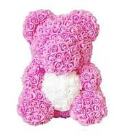 Мишка из роз с сердечком Teddy Love (40 см), фото 1
