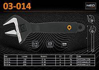 Ключ разводной сантехнический L-200мм, Ra- 38мм., NEO 03-014