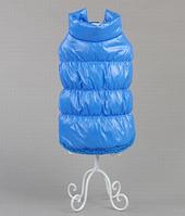 Куртка меховая голубая для собаки