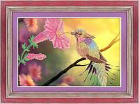 Схема для вышивки бисером Райская птичка