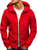 Ветровка курточка мужская весенняя/осенняя, цвет красный