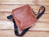 f361d4e89115 Мужская сумка ручной работы из натуральной кожи Классик цвет коньяк