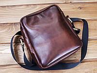 7453d9d3223c Мужская сумка ручной работы из натуральной кожи Классик Италия цвет вишневый