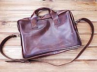 045cc47ef668 Мужская сумка ручной работы из натуральной кожи Офисная Италия цвет  коричневый
