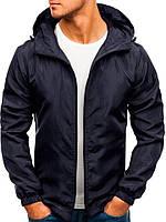 Ветровка курточка мужская весенняя/осенняя, цвет синий