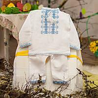 Вышитый костюм для крестин (мальчик)
