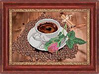 Схема для вышивки бисером Кофе с романтикой
