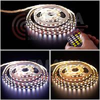 Светодиодная лента AVT PROFESSIONAL (двухцветная) SMD 5025 (60 LED/м), белый и белый теплый, IP20, 12В