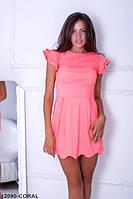 Симпатичное летнее платье с воланами на рукавах Poly