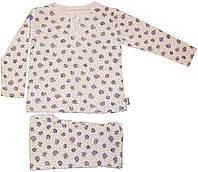 Пижама детская, белая с рисунком ежевики, рост 98 см, 104 см, ТМ Робинзон