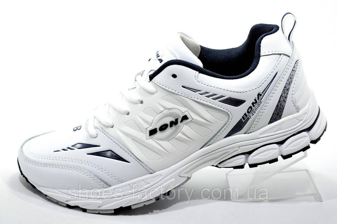 Белые кроссовки Bona 2019, Мужские (кожаные)