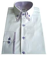 Рубашка мужская приталенная S 4.3 оксфорд, фото 1