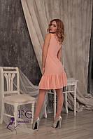"""Платье летнее """"Шелли""""  Распродажа модели персиковый, 42"""