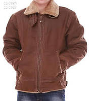 Чоловіча зимова шкіряна Куртка коричнева 50 «Rino@Pelle» (Нідерланди)