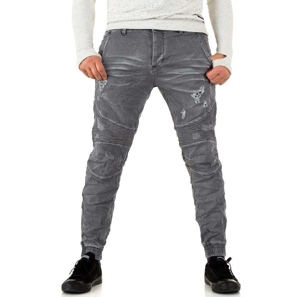 Джинсы мужские с резинкой внизу Y.Two Jeans (Италия), Серый