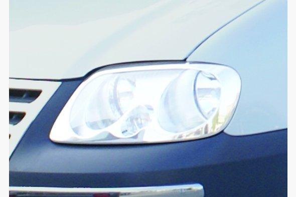 Накладки на фары (2 шт, нерж) Volkswagen Caddy 2004-2010 гг.