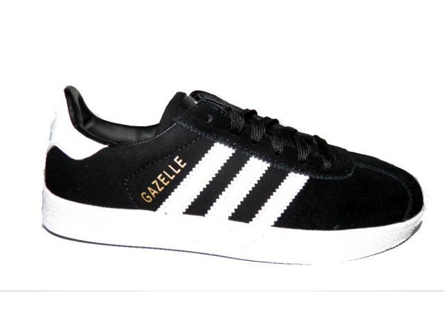 Кроссовки подростковые Adidas gazell ( Реплика) 3009-8 черный
