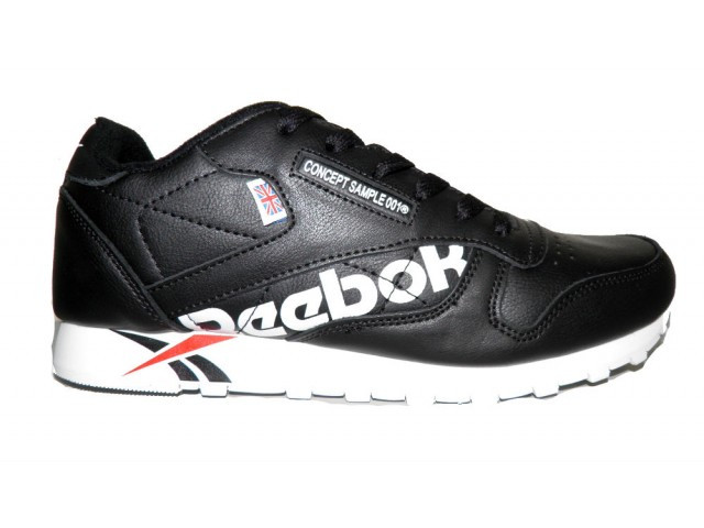 Кроссовки подростковые Reebok Concept Sample ( Реплика)  B 371-1 черный