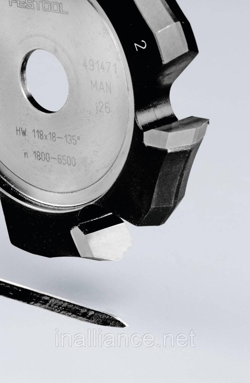 Фреза V-образная HW HW 118x18-135GRAD (ALU) пазовая для фрезерования композитных панелей 135 градусов 491471