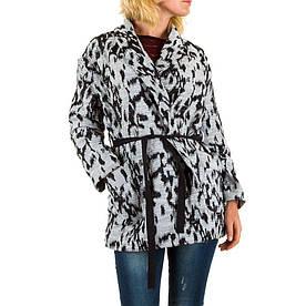 Короткое пальто женское Jcl (Франция) Белый/Черный