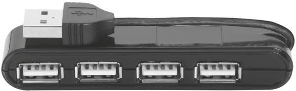 USB-хаб Trust Vecco 4 Port USB 2.0 Mini Hub Black, фото 2