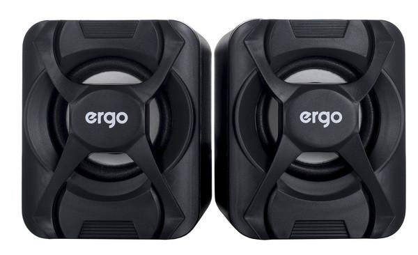 Мультимедийная акустика ERGO S-203 USB 2.0 Black