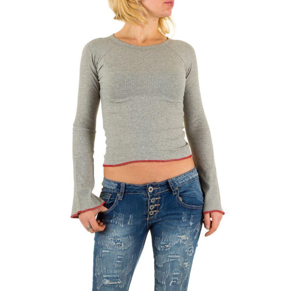 Женский джемпер с расклешенными рукавами (Европа), Серый
