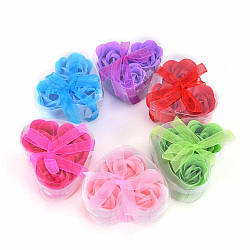 Мыло роза 3шт в коробочке 3,5см