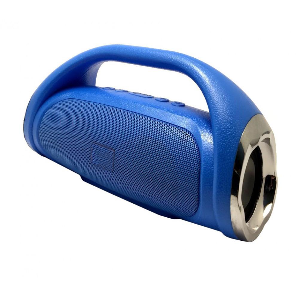 Портативная bluetooth колонка MP3 BOOM BASS MINI синяя