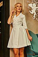 Нарядное платье с пышной юбкой белое размер 42-50