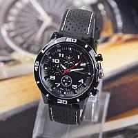 Мужские часы силикон. ремешок Grand Touring Черные GT-2