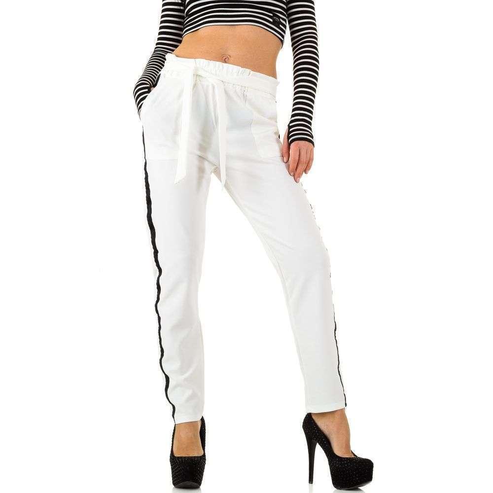 Женские брюки от Noemi Kent Paris - белый - KL-WJ-7985-белый