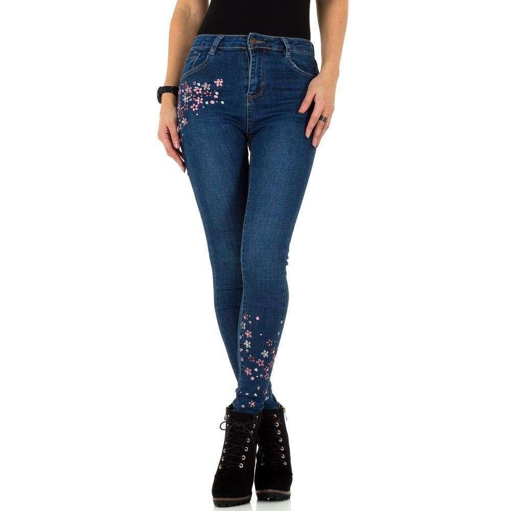 4d0cdb30bcd Женские джинсы с цветочной вышивкой Laulia (Германия)
