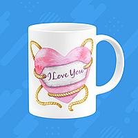 "Чашка на подарок на день святого Валентина ""I LOVE YOU"""