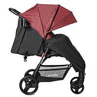 Коляска прогулочная CARRELLO Maestro CRL-1414/1 Strawberry Red в льне +дождевик