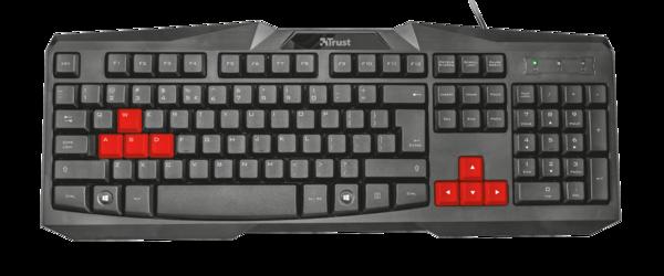 Клавиатура Trust Ziva Gaming Keyboard RU
