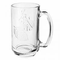 Набор чашек стеклянных Leaves EZ2037, 6шт/наб, 360 мл