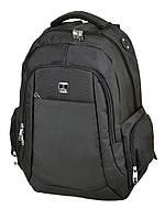 Большой спортивный рюкзак 3891 black черный текстильный школьный, фото 1
